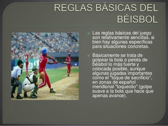 Reglas de béisbol. horacio garcia Slide 2