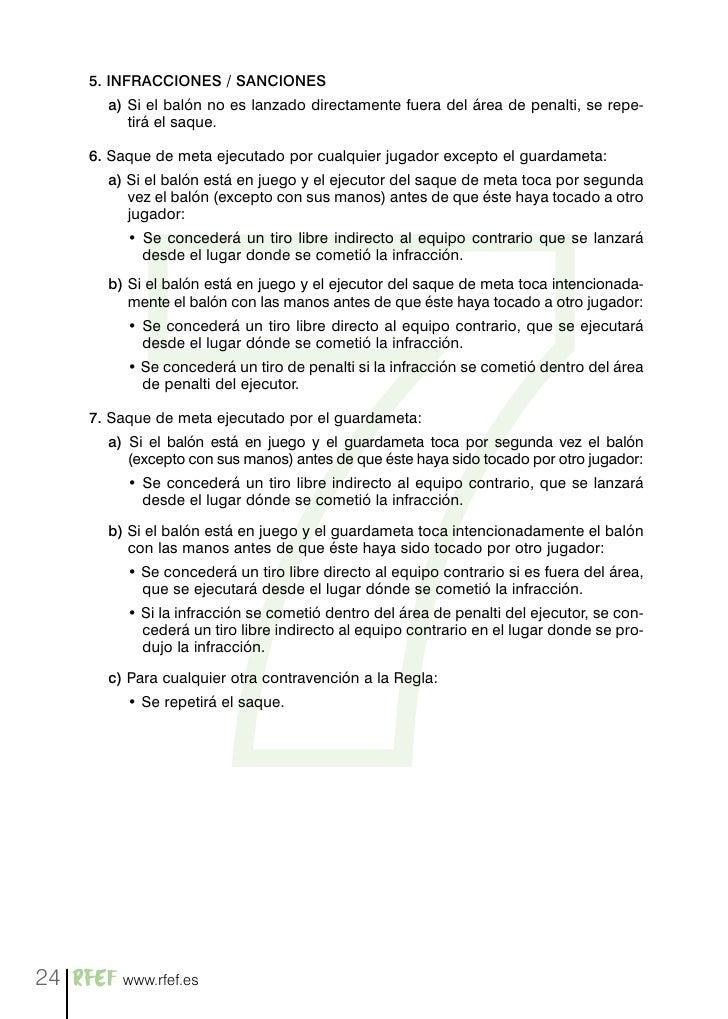 Reglas de futbol 7 rfef for Regla del fuera de lugar