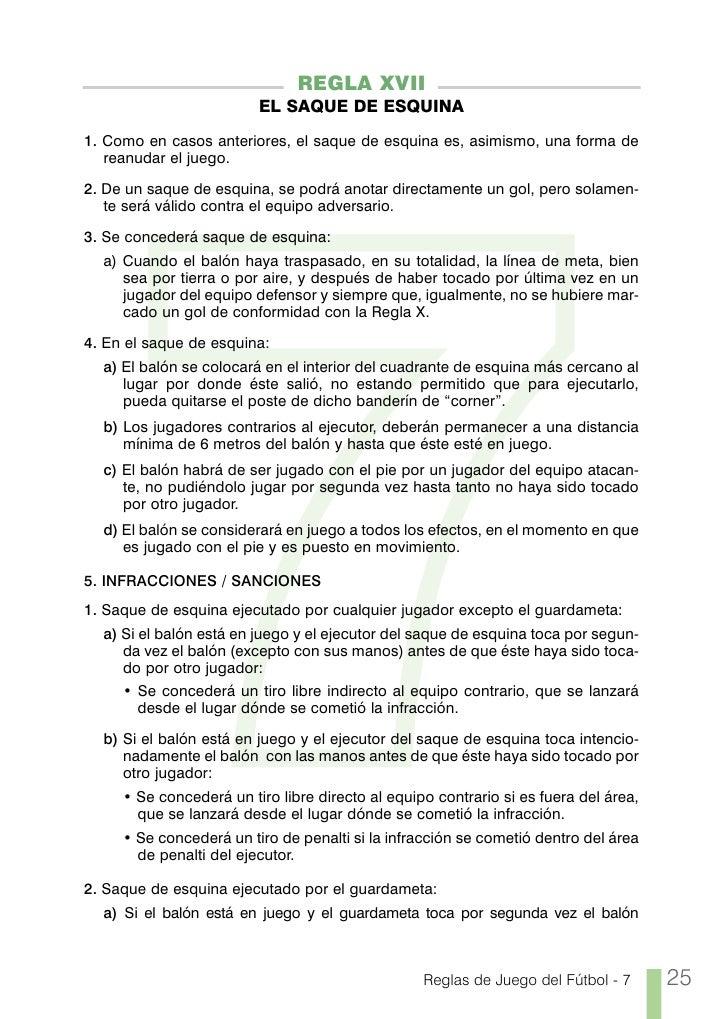 Reglas de futbol 7 rfef for Cuando es fuera de lugar futbol