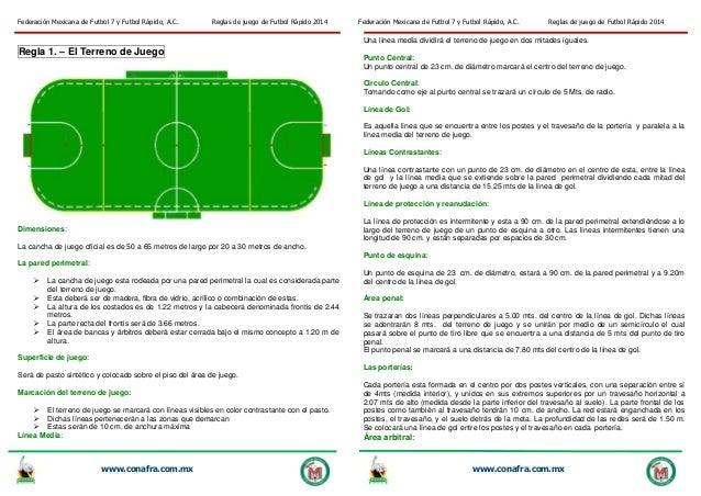 Reglas de juego de futbol rapido 2014 for 5 reglas del futbol de salon