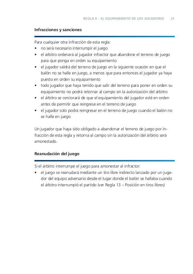 Reglas de juego fifa 2011 2012