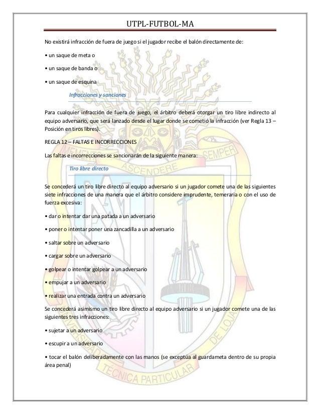 Reglas del futbol for Regla del fuera de lugar