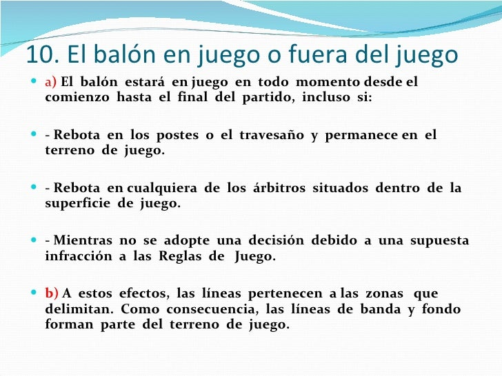 Reglas del futbol de salon for 10 reglas del futbol de salon