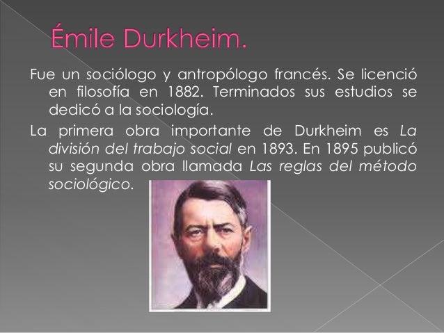 """""""En toda sociedad existe un grupo determinado de fenómenos que se distinguen por caracteres bien definidos de aquellos que..."""