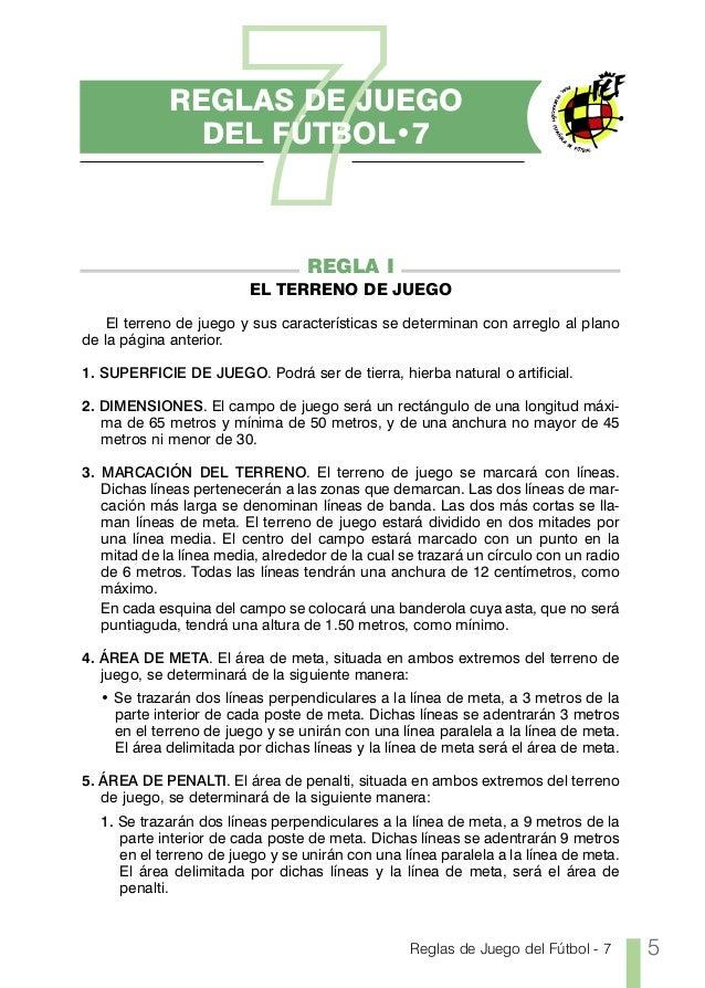Reglas futbol 7 for 5 reglas del futbol de salon