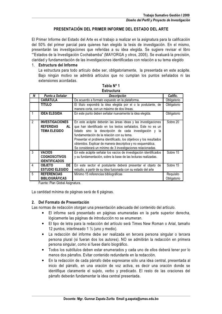 Trabajo Sumativo Gestión I 2009                                                                     Diseño del Perfil y Pr...