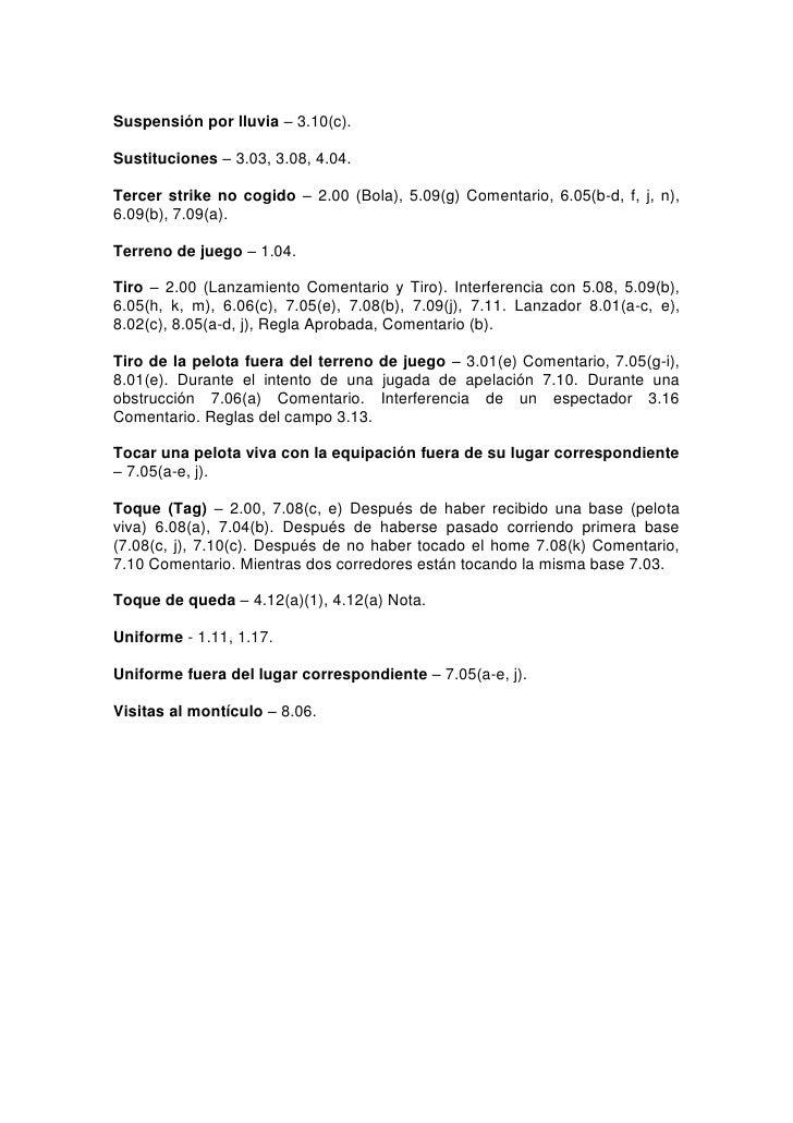 Reglas oficiales de b isbol 2011 for Regla del fuera de lugar