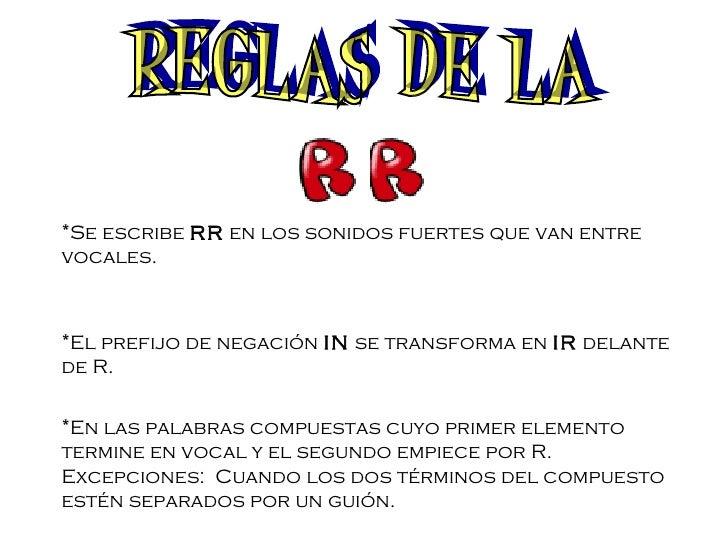Reglas ortograficas for Mueble que empiece por r