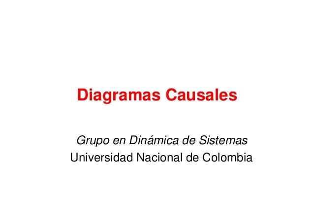 Diagramas Causales Grupo en Dinámica de Sistemas Universidad Nacional de Colombia