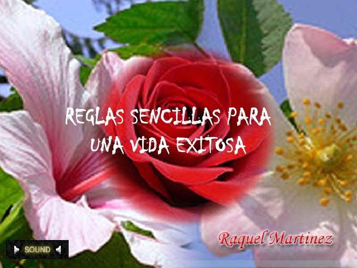 REGLAS SENCILLAS PARA       UNA VIDA EXITOSA<br />