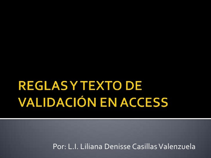 Por: L.I. Liliana Denisse Casillas Valenzuela