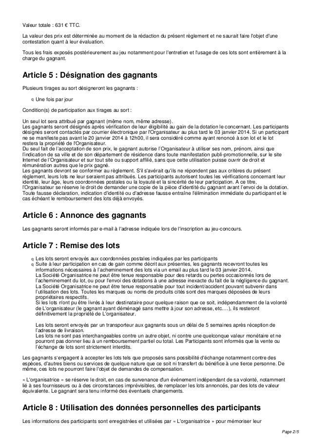 Règlement jeu concours Poplidays-64  Slide 2