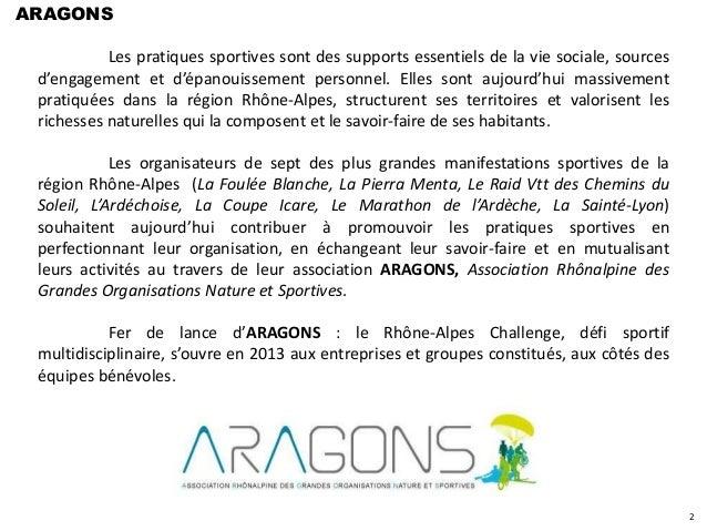 ARAGONS           Les pratiques sportives sont des supports essentiels de la vie sociale, sources d'engagement et d'épanou...