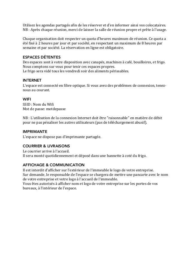 Reglement Interieur Bureaux