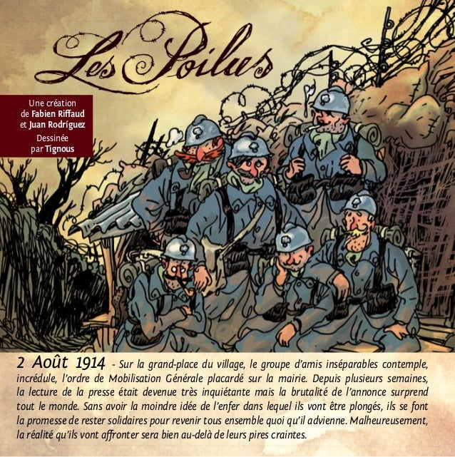 2 Août 1914 - Sur la grand-place du village, le groupe d'amis inséparables contemple, incrédule, l'ordre de Mobilisation G...