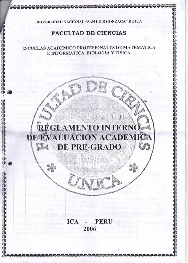 """UNIVERSIDAD NACIONAL """"SAN LUIS GONZAGA"""" DE ICA  FACULTAD DE CIENCIAS ESCUtrLAS ACADEMICO PROFESIONALES DE MATEMATICA E INF..."""