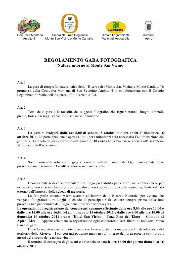 Comunità Montana    Riserva Naturale Regionale            Circolo Legambiente          Comune   Ambito 4      Monte San Vi...