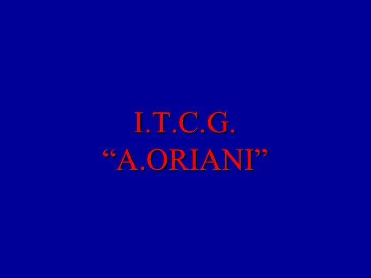 """I.T.C.G.  """"A.ORIANI"""""""