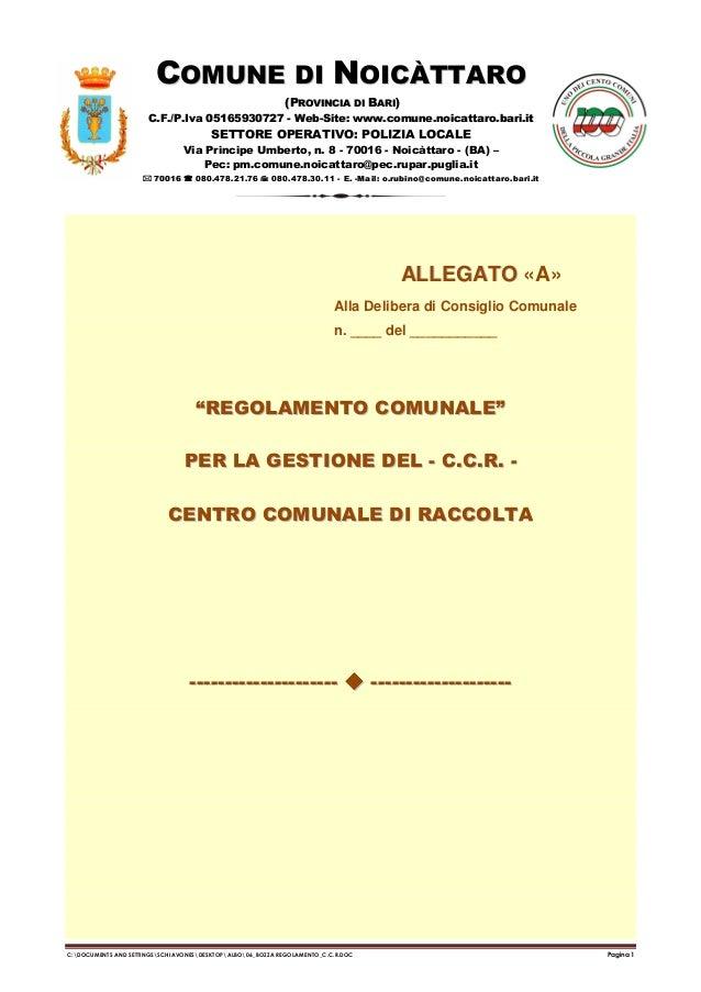 COMUNE DI NOICÀTTARO (PROVINCIA DI BARI) C.F./P.Iva 05165930727 - Web-Site: www.comune.noicattaro.bari.it  SETTORE OPERATI...