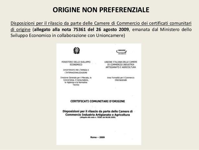 L 39 origine delle merci for Fac simile autocertificazione per detrazione materasso