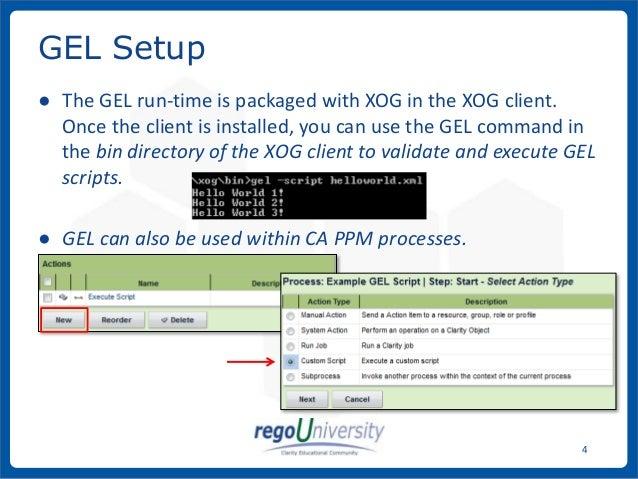 rego university hidden automation gel scripting ca ppm ca clarit rh slideshare net CA Clarity PPM Data Model CA Clarity PPM Icon