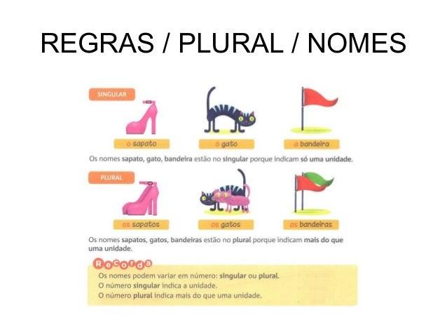 REGRAS / PLURAL / NOMES