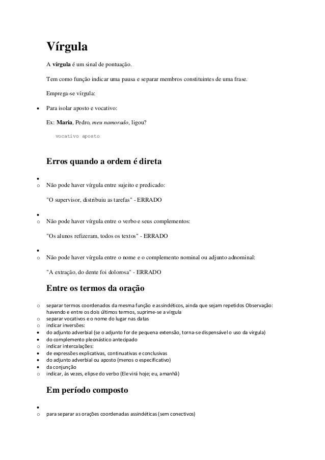 Regras De Portugues