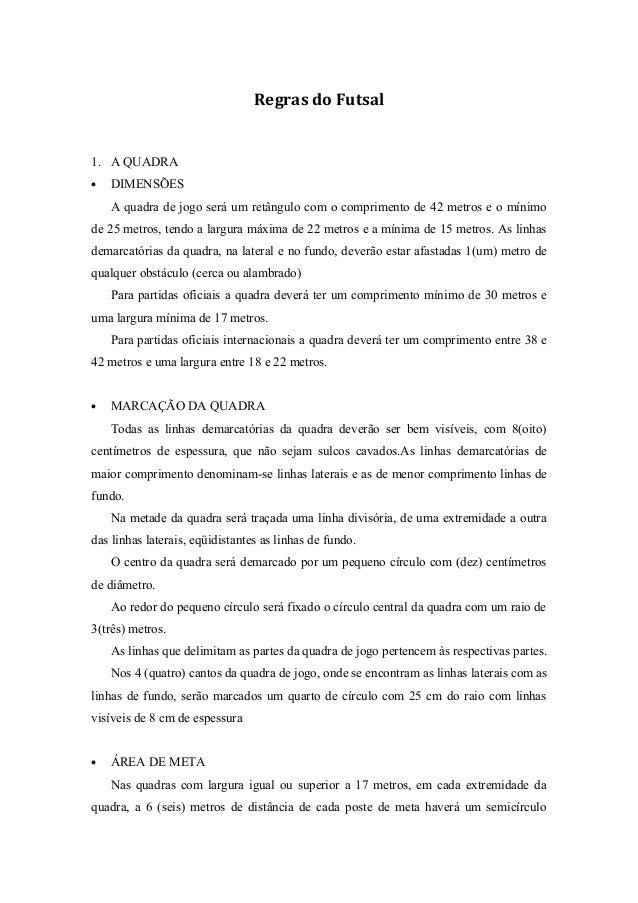 c77184a252 Regras básicas do futsal