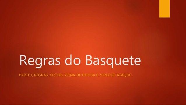 Regras do Basquete PARTE I, REGRAS, CESTAS, ZONA DE DEFESA E ZONA DE ATAQUE