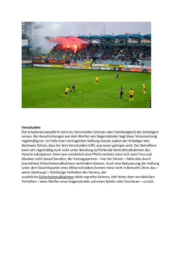 Regress des Vereins gegen Störer bei Zuschauerausschreitungen Slide 3