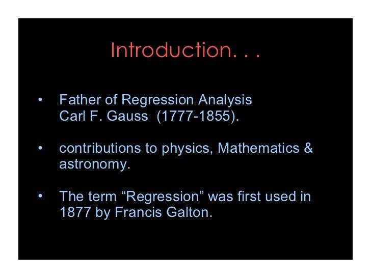 Regression analysis Slide 2