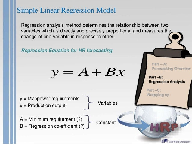 regression analysis and change Regression analysis is one of the most important statistical techniques for business applications it's a statistical methodology that helps estimate the strength and direction of the relationship between two or more variables the analyst may use regression analysis to determine the actual.
