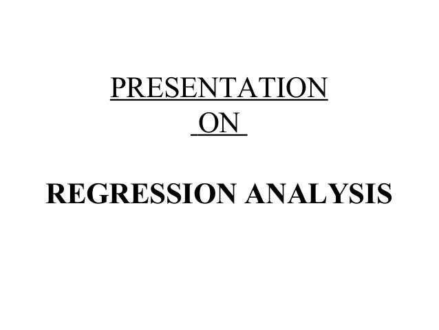regression analysis and change Definition: the regression analysis is a statistical tool used to determine the probable change in one variable for the given amount of change in another this means, the value of the.