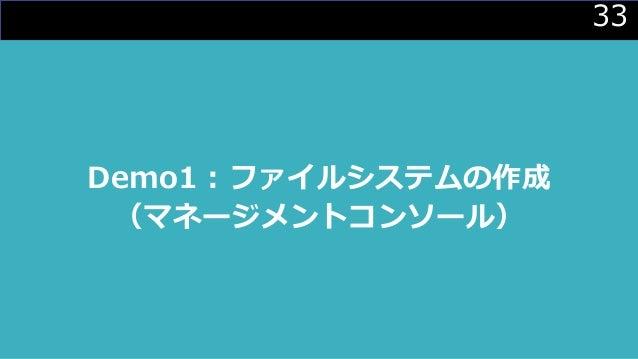 33 Demo1 : ファイルシステムの作成 (マネージメントコンソール)