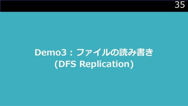 35 Demo3 : ファイルの読み書き (DFS Replication)