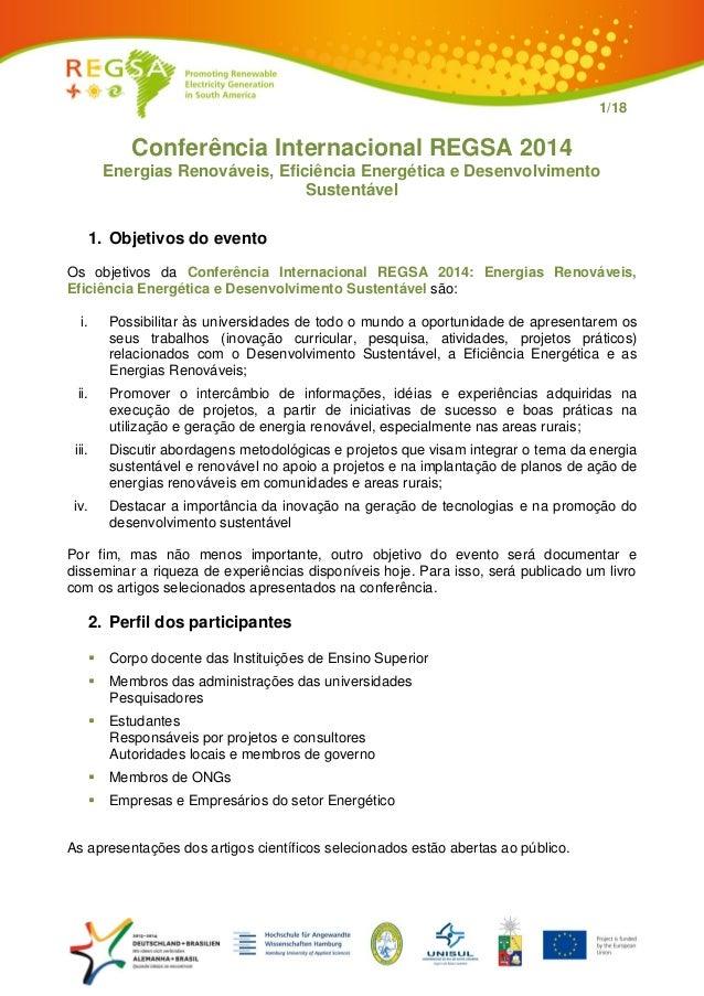 f714da131 1 18 Conferência Internacional REGSA 2014 Energias Renováveis