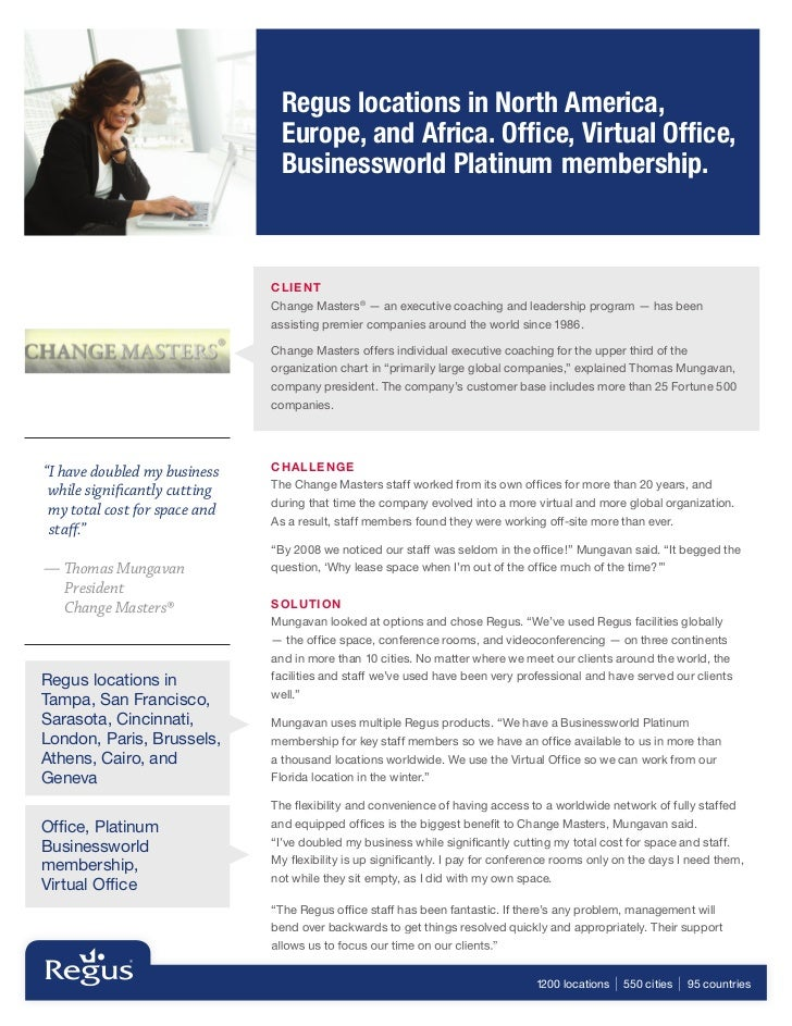 Regus locations in North America,                                 Europe, and Africa. Office, Virtual Office,               ...