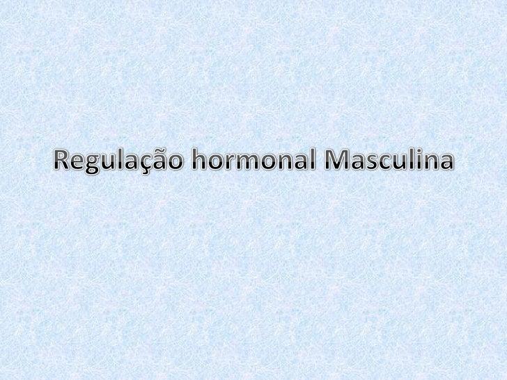 Regulação hormonal Masculina<br />