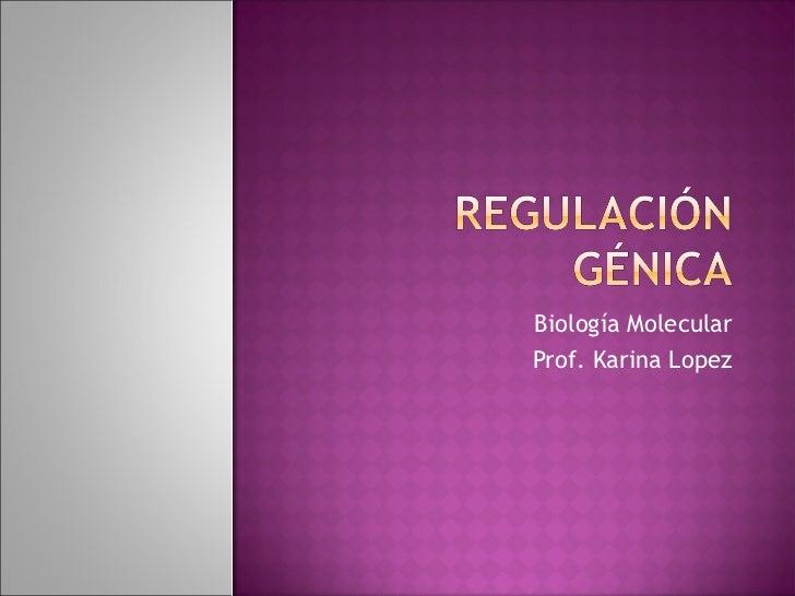 Biología MolecularProf. Karina Lopez