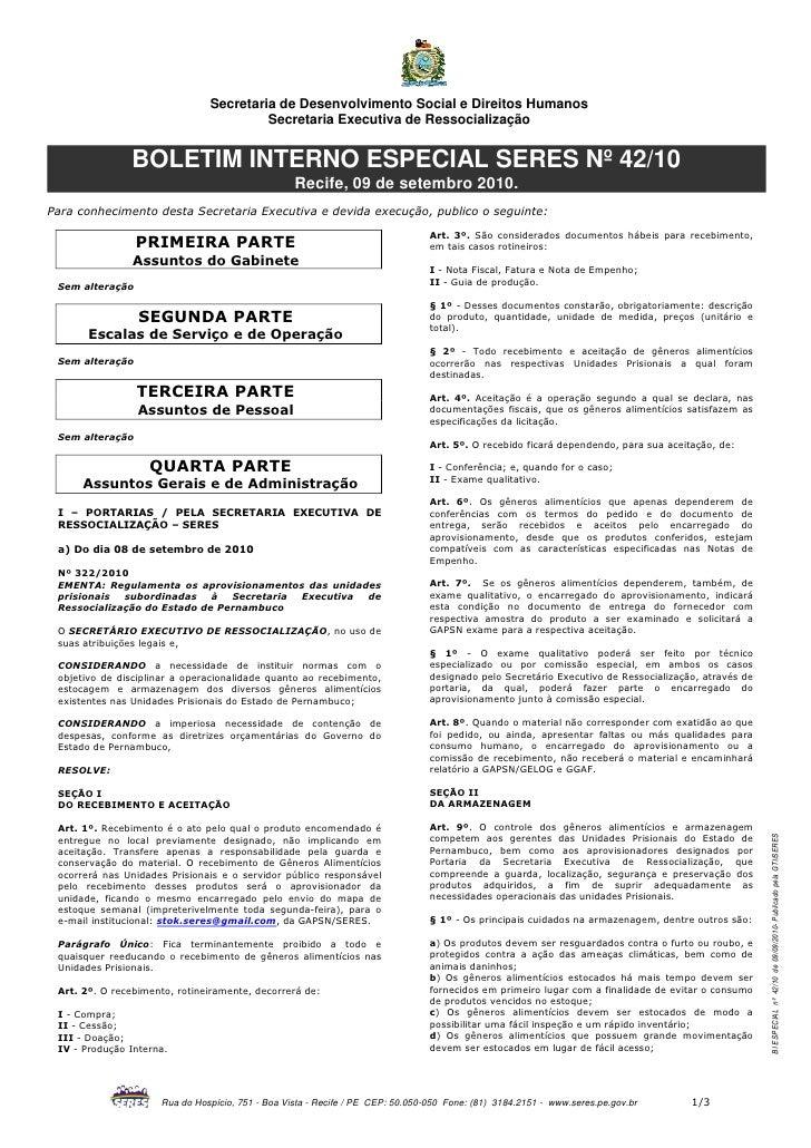 Secretaria de Desenvolvimento Social e Direitos Humanos                                        Secretaria Executiva de Res...