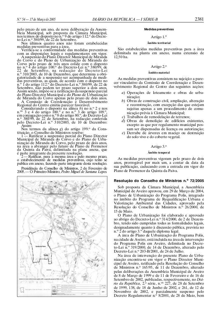 N.o 54 — 17 de Março de 2005                     DIÁRIO DA REPÚBLICA — I SÉRIE-B                                 2381pelo ...