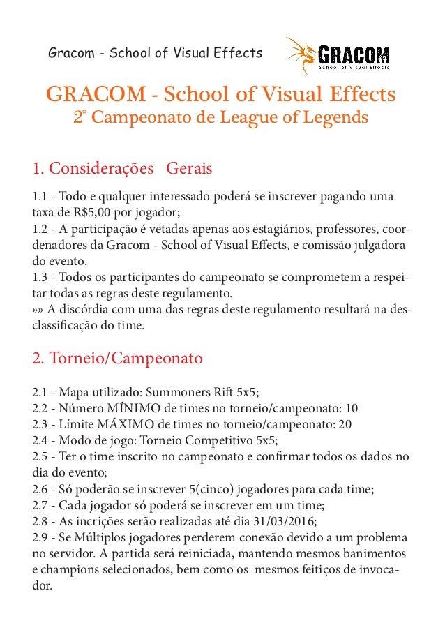 Regulamento campeonato gracom