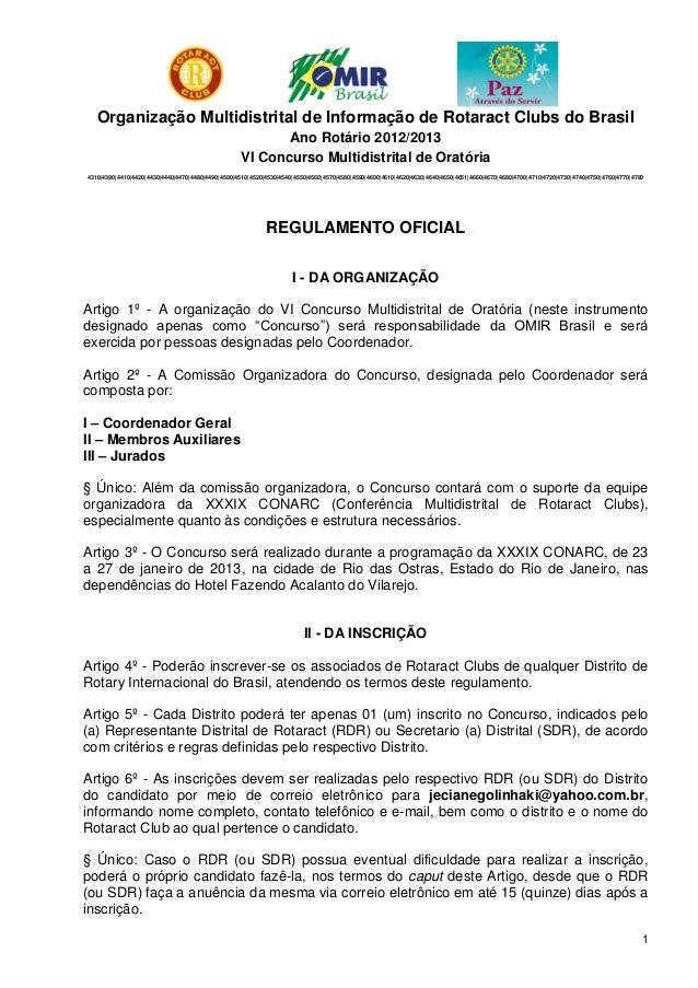 Organização Multidistrital de Informação de Rotaract Clubs do Brasil                                                      ...