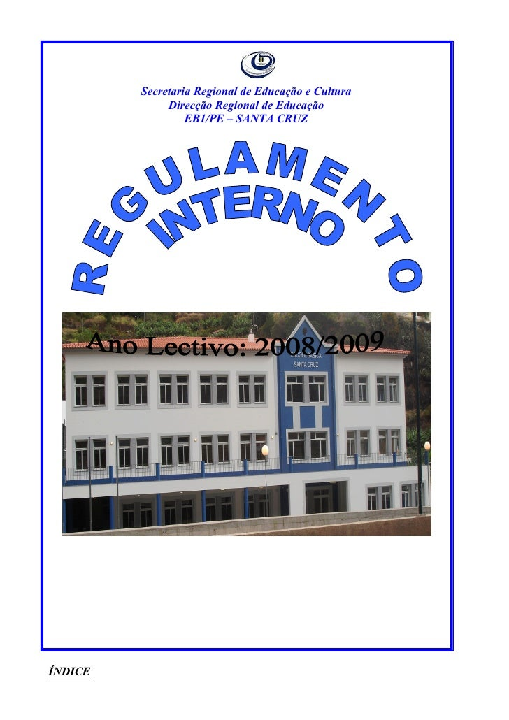 Regulamento interno 08 09 for Ministerio de seguridad telefonos internos