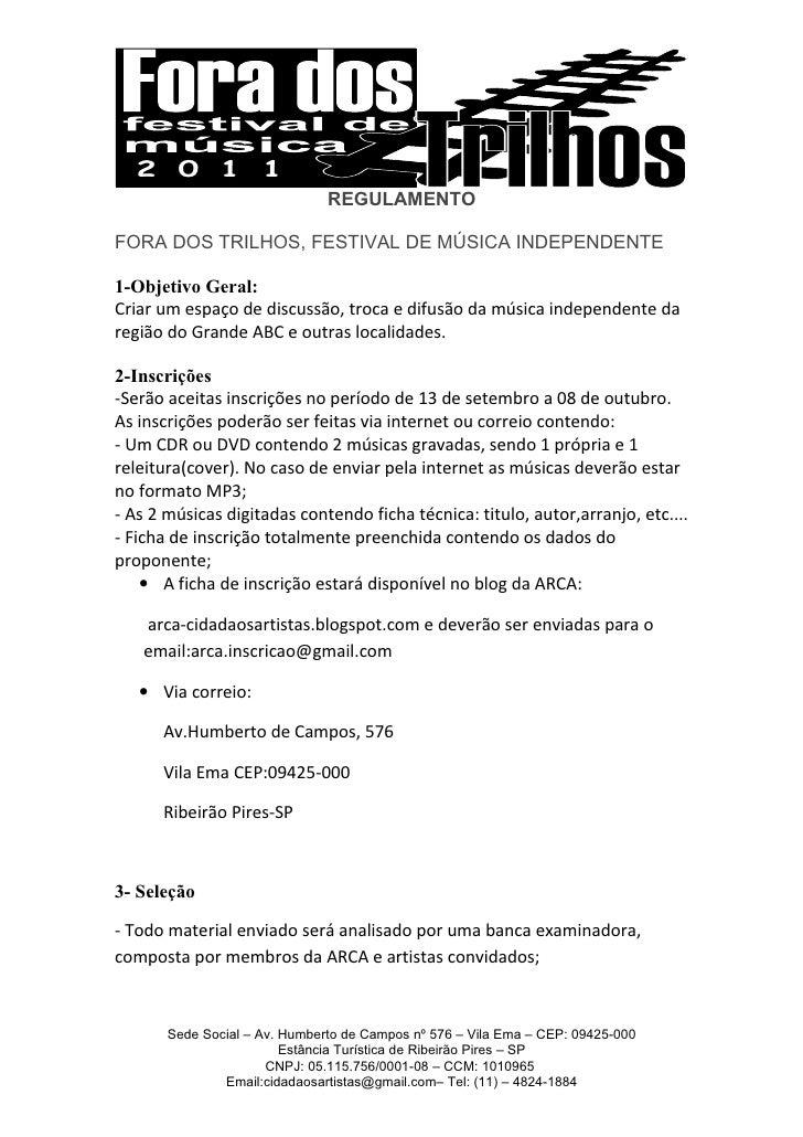 Regulamento 2011