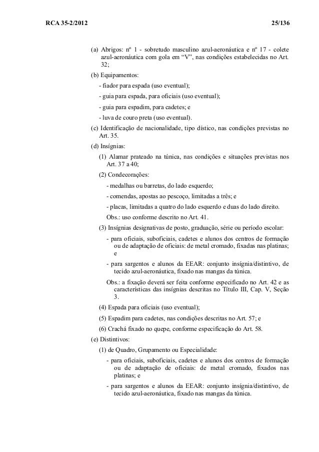 5434327033e12 Regulamento de Uniformes para os Militares da Aeronáutica RUMAER (201…