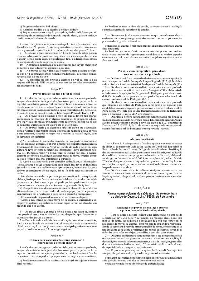Diário da República, 2.ª série—N.º 30—10 de fevereiro de 2017 2736-(13) c) Programa educativo individual; d) Relatório méd...