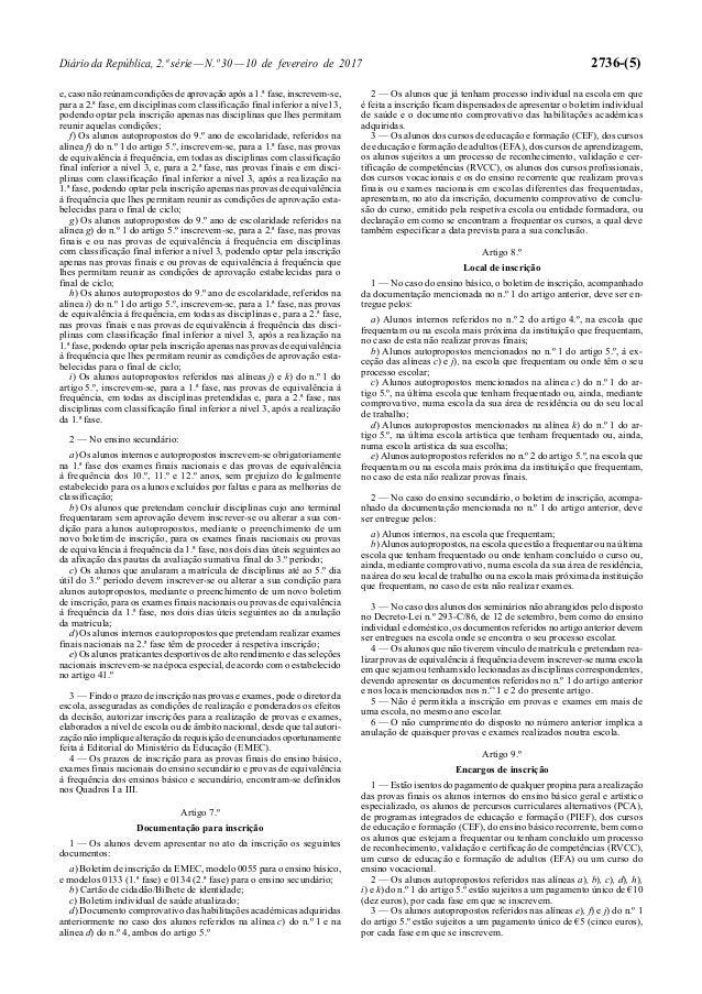 Regulamento dos exames_2017_desp normativo nº 1-a-2017 Slide 3