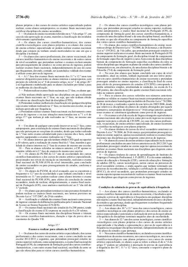2736-(8) Diário da República, 2.ª série—N.º 30—10 de fevereiro de 2017 planos próprios e dos cursos do ensino artístico es...