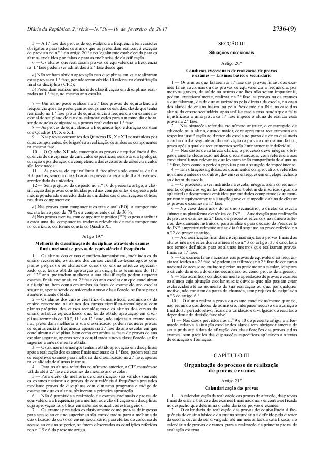 Diário da República, 2.ª série—N.º 30—10 de fevereiro de 2017 2736-(9) 5 — A 1.ª fase das provas de equivalência à frequên...